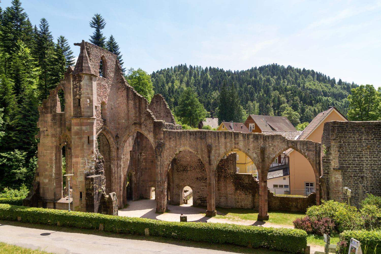 Kloosterruïne Allerheiligen bij Oppenau in het Zwarte Woud