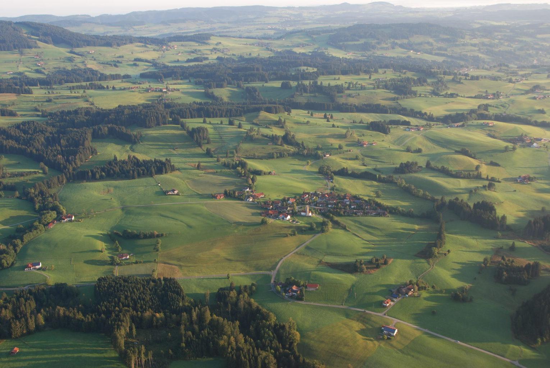 Dit is Oberdorf van boven.