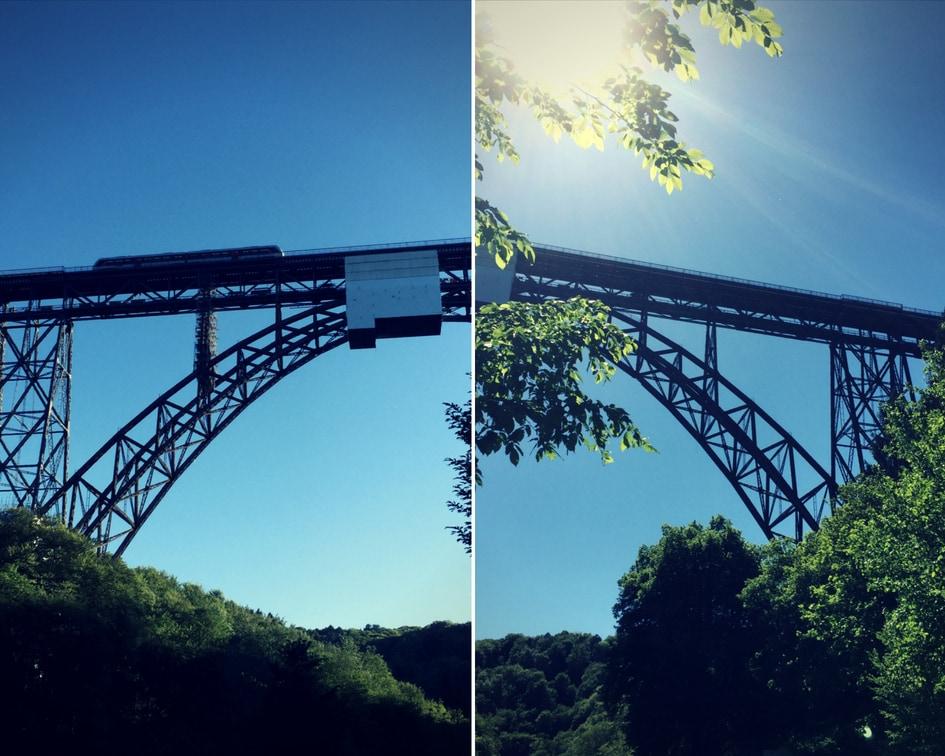 De Müngstener Brücke, de hoogste spoorwegbrug van Duitsland