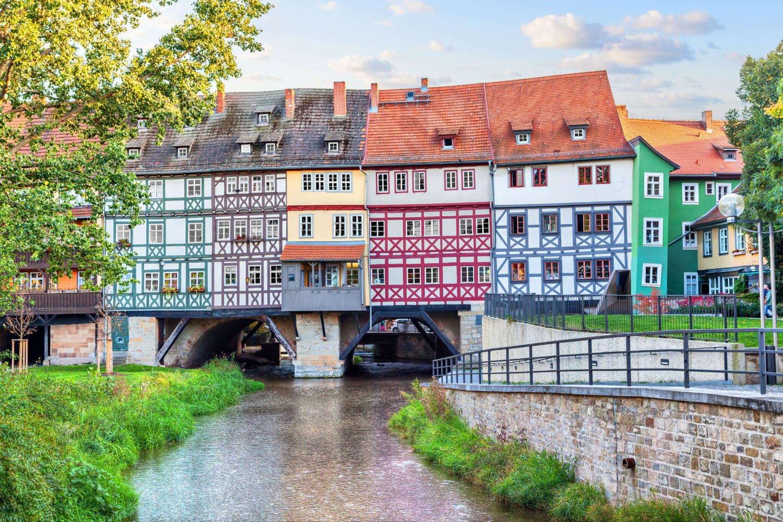 Erfurt met de Krämerbrücke, nog zo'n prachtige bestemming