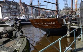 Emden de meest westelijk zeehaven van Duitsland