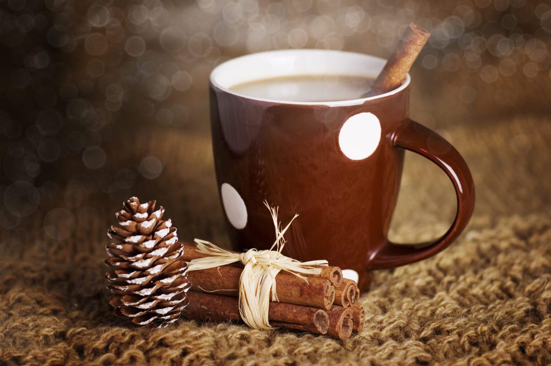 Heiße Schokolade mit Zimtstangen