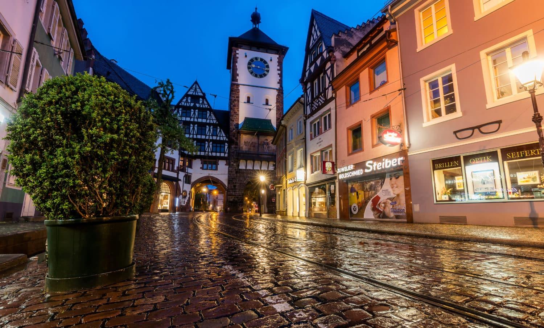Freiburg in schemerlicht