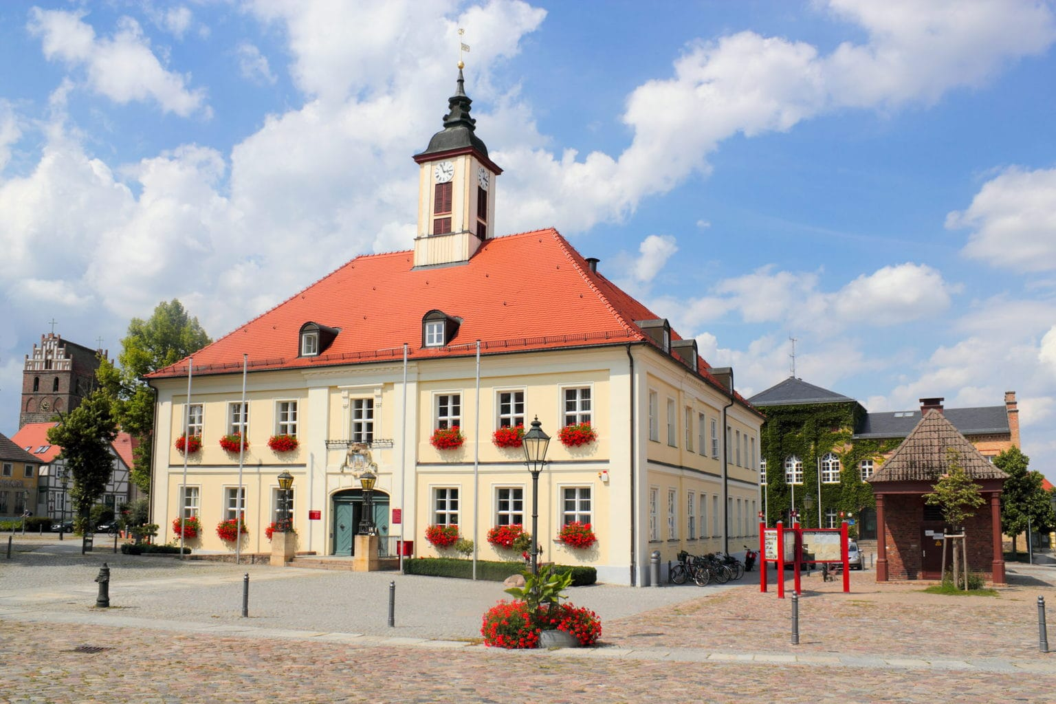 Stadhuis van Angermünde in de Uckermark