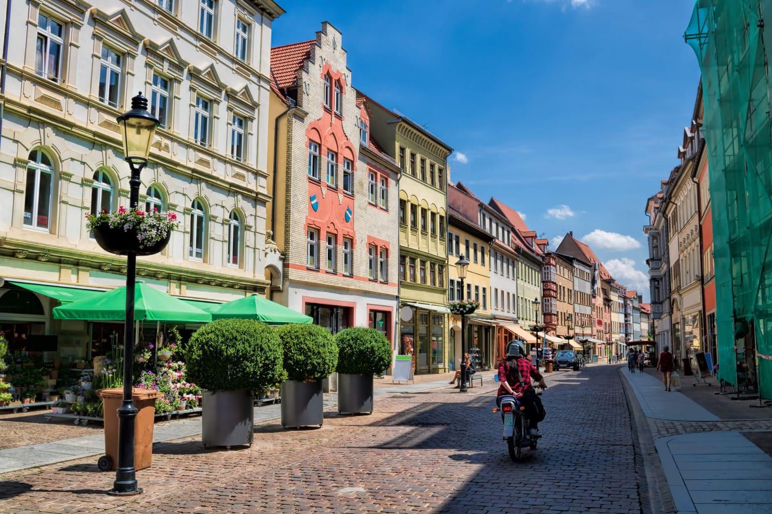 De binnenstad van Naumburg an der Saale