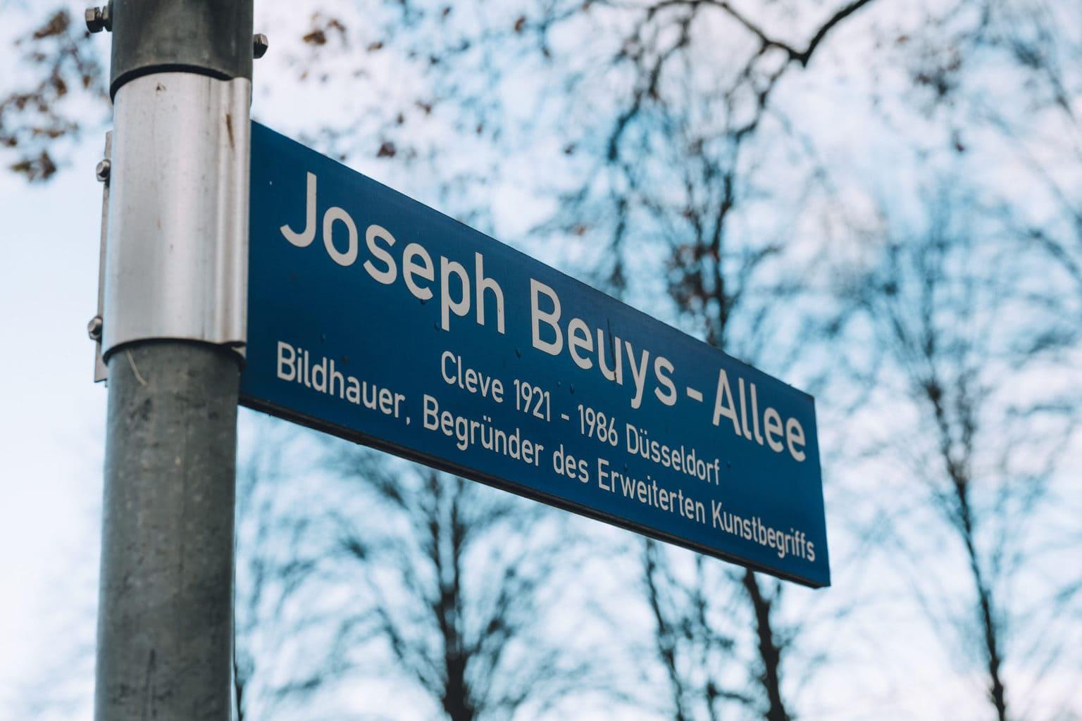 Straat die naar kunstenaar Joseph Beuys ins benoemd in Kleef