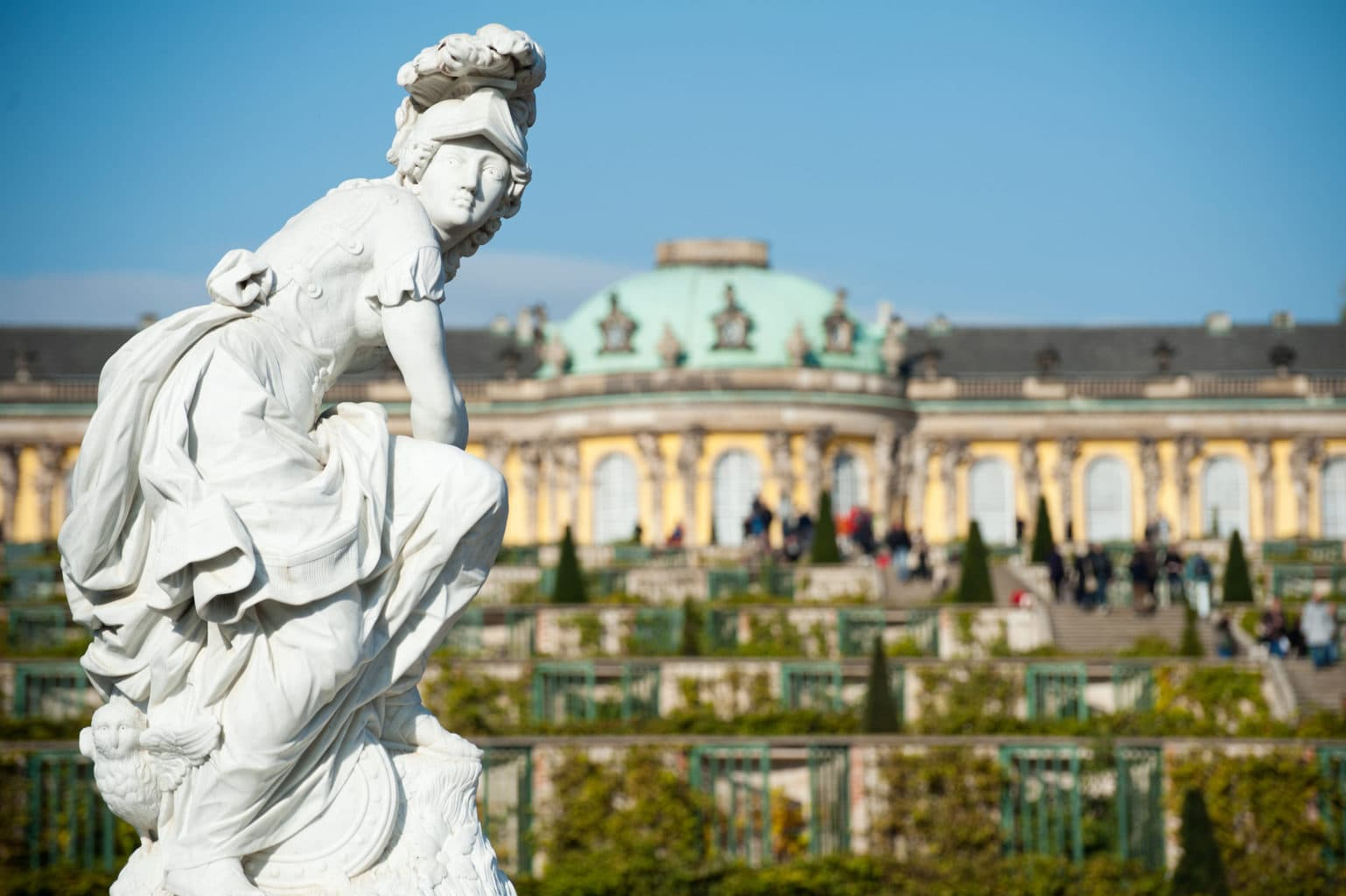 Kasteel Sanssouci in Potsdam bij Berlijn
