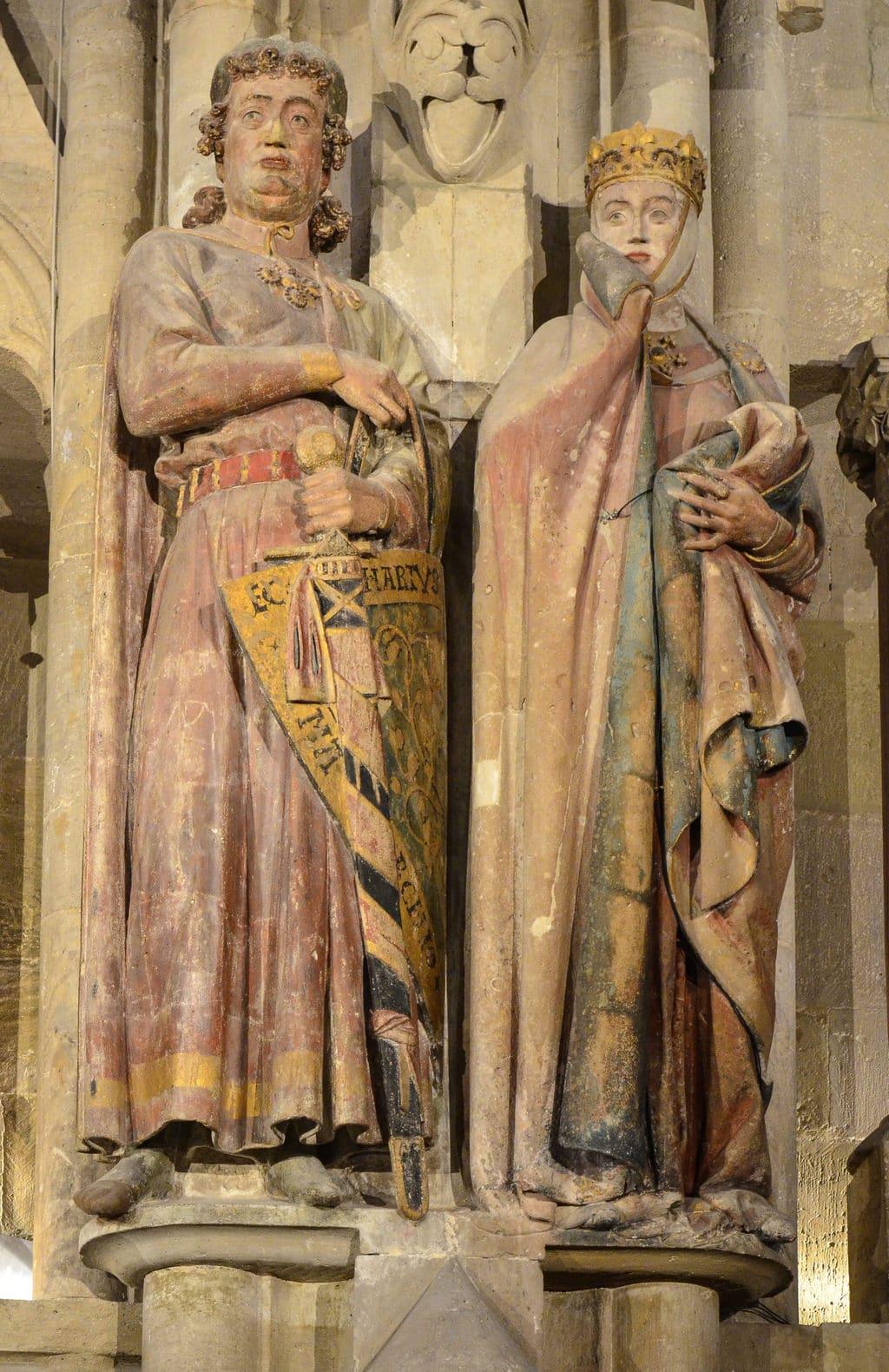 Figuren van Uta en Ekkehard in Naumburg an der Saale
