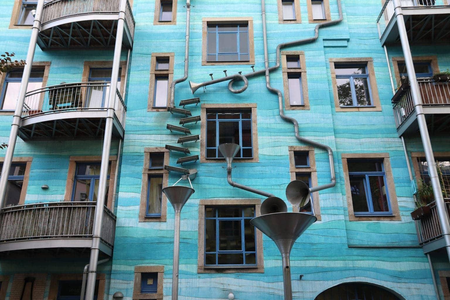 De kunsthofpassage in Dresden behoort tot de avantgardeplekken in de stad
