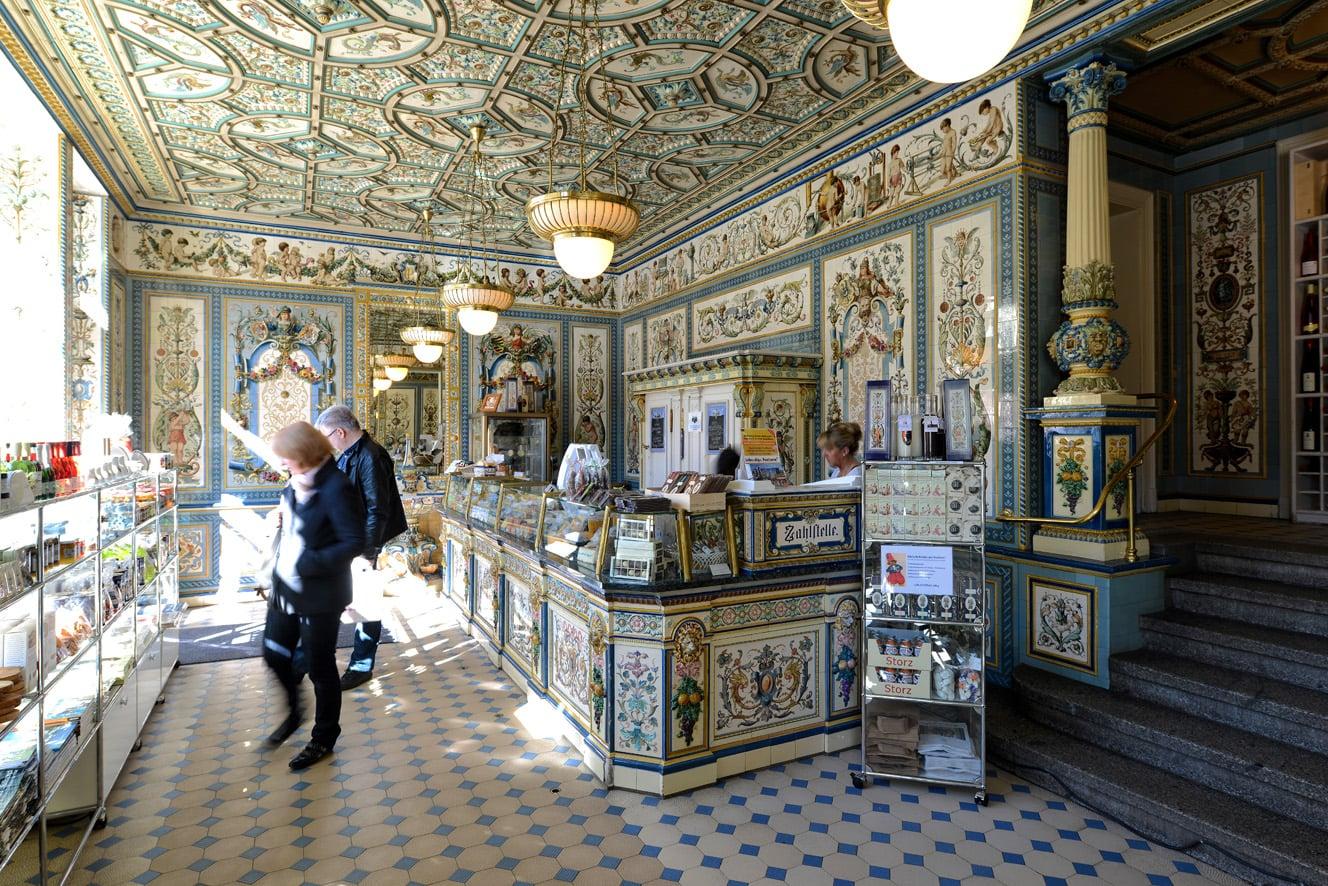 De winkel van Pfunds Molkerei in Dresden behoort tot de mooiste van de wereld