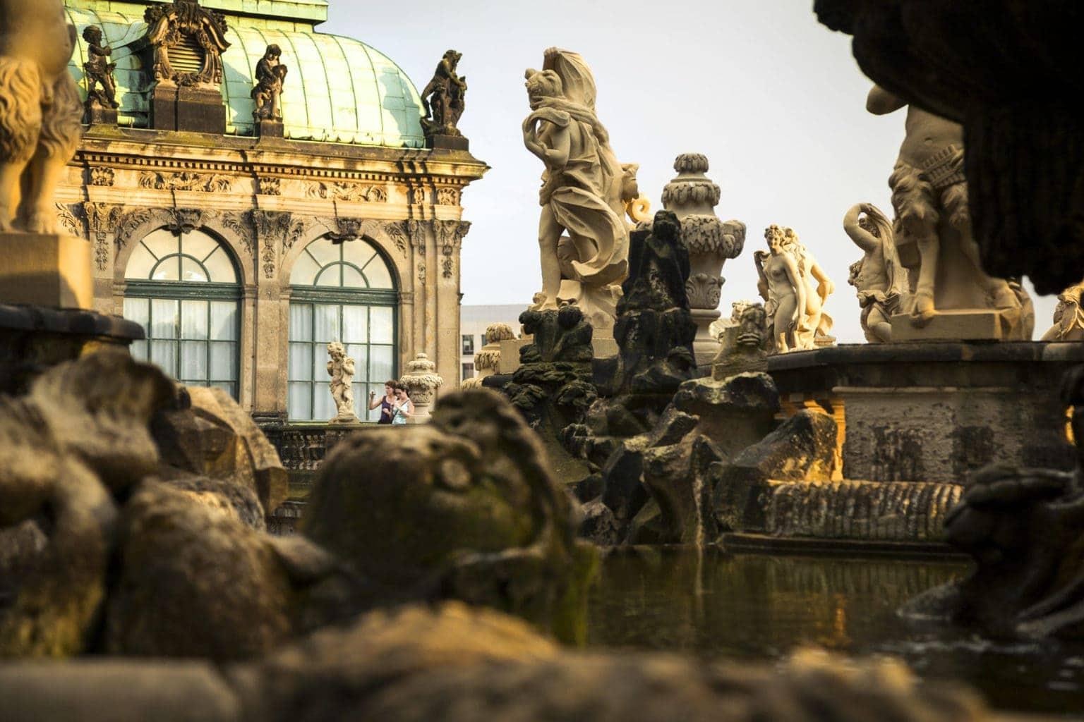 De Zwinger in Dresden is een van de belangrijkste musea van het land