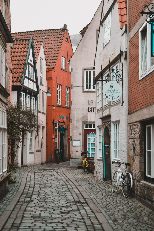 Een van de mooiste fotospots in Duitsland is het Schnoorviertel in Bremen