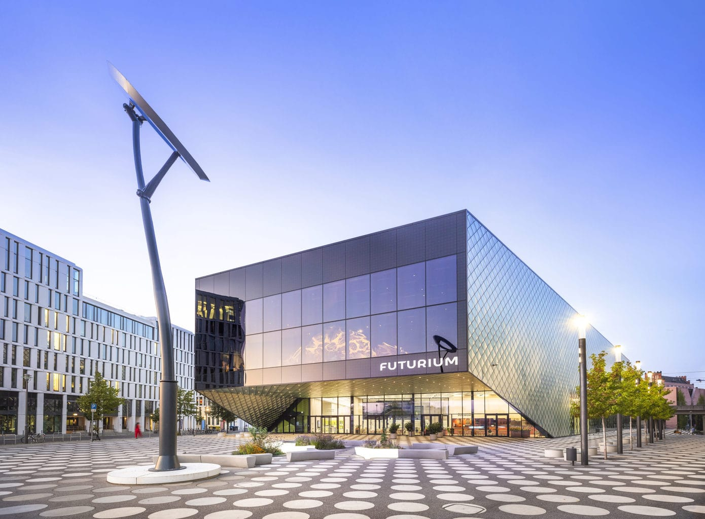 Het Futurium in Berlijn van buiten