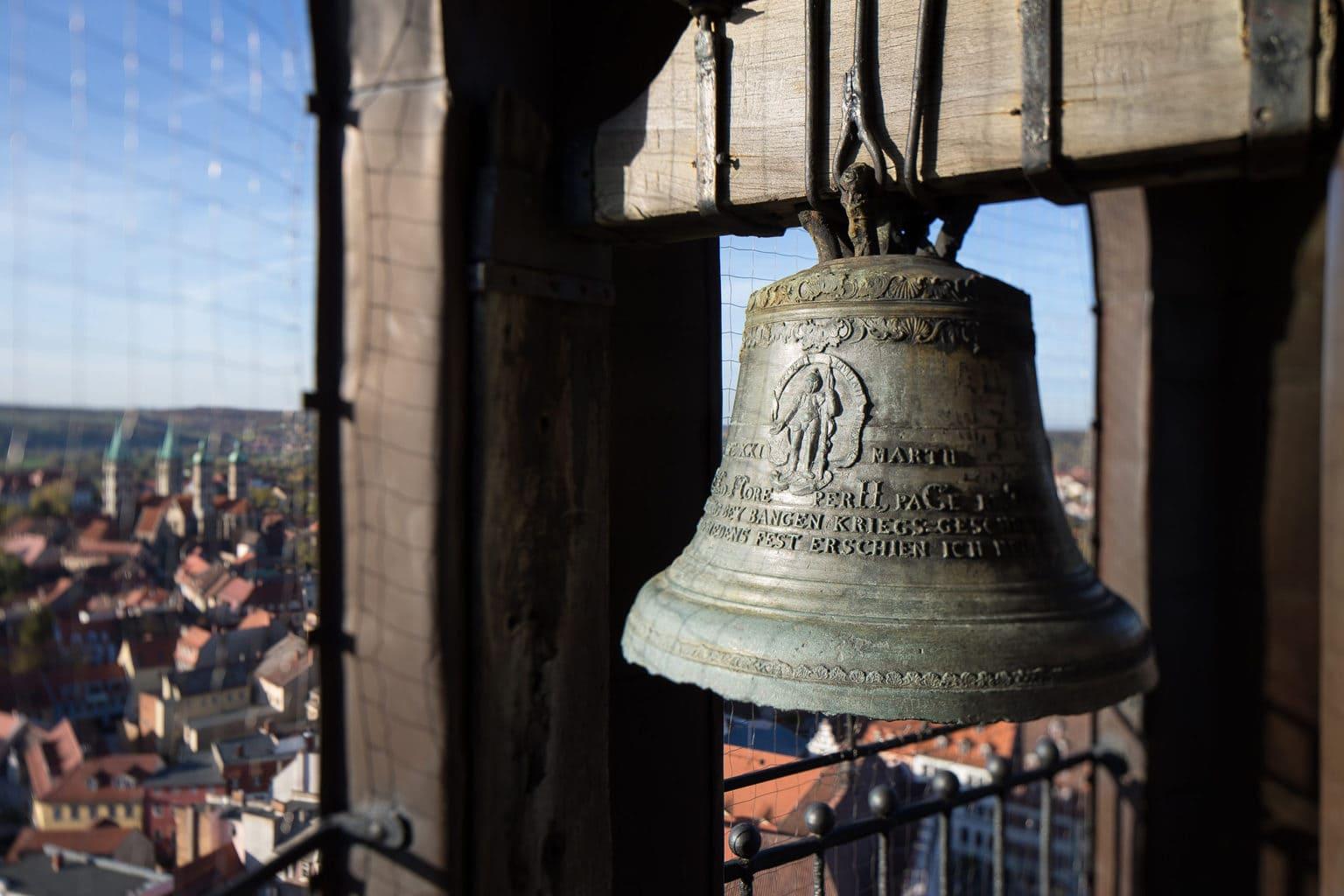 De klok van de dom in Naumburg an der Saale