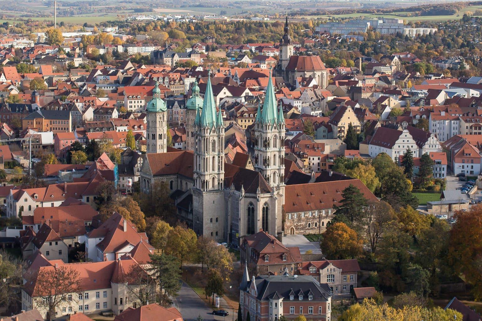 Naumburg an der Saale met dom van boven
