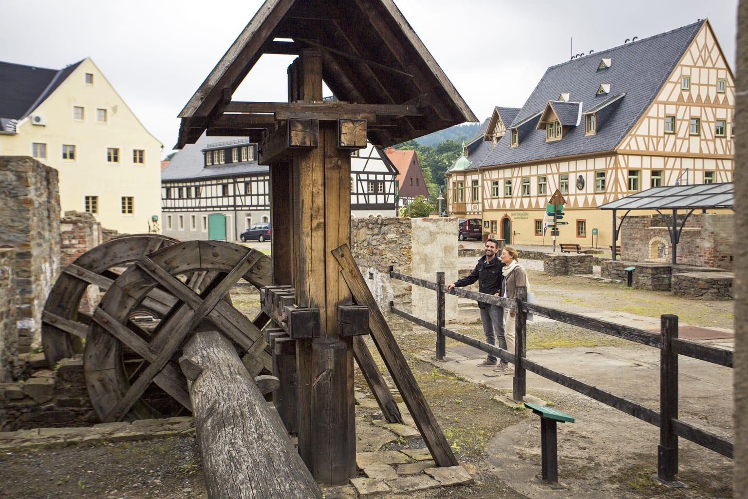 De Saigerhütte in het stadje Olbernhau in Saksen