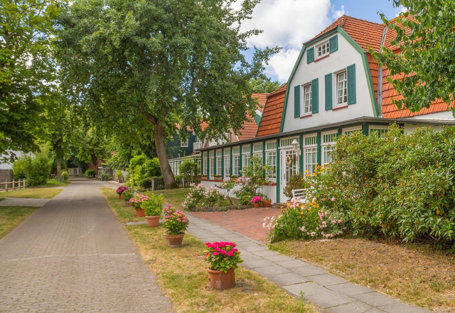 Typische villa op het Duits eiland Spiekeroog
