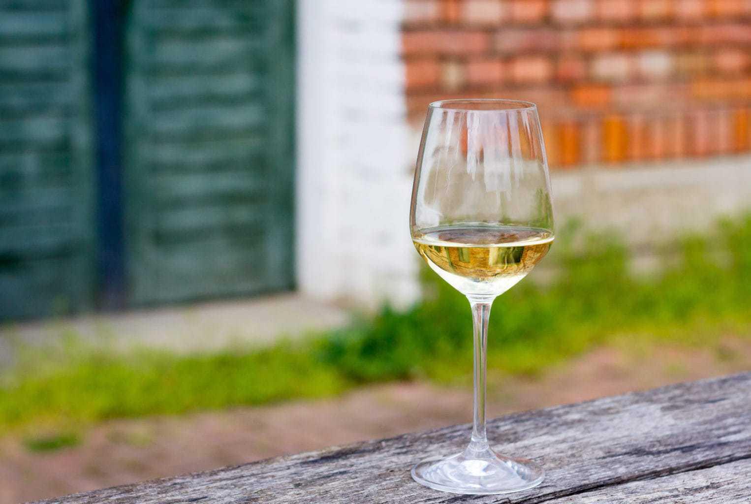 Een glas Riesling in de Duitse Rheingau