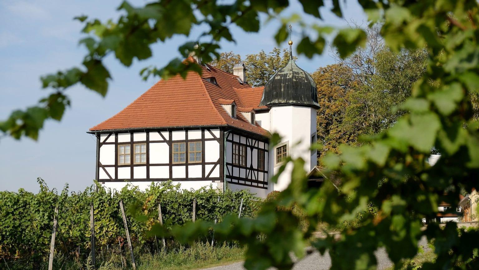 Wijngoed Hoflößnitz in Saksen is een van de onbekende attracties van de Duitse deelstaat
