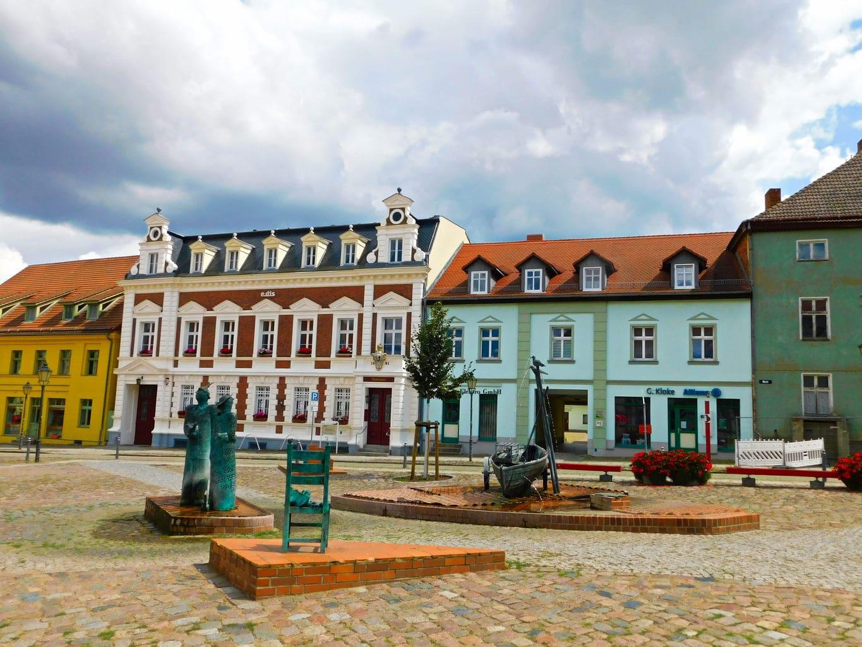 Binnenstad van Angermünde in de Uckermark