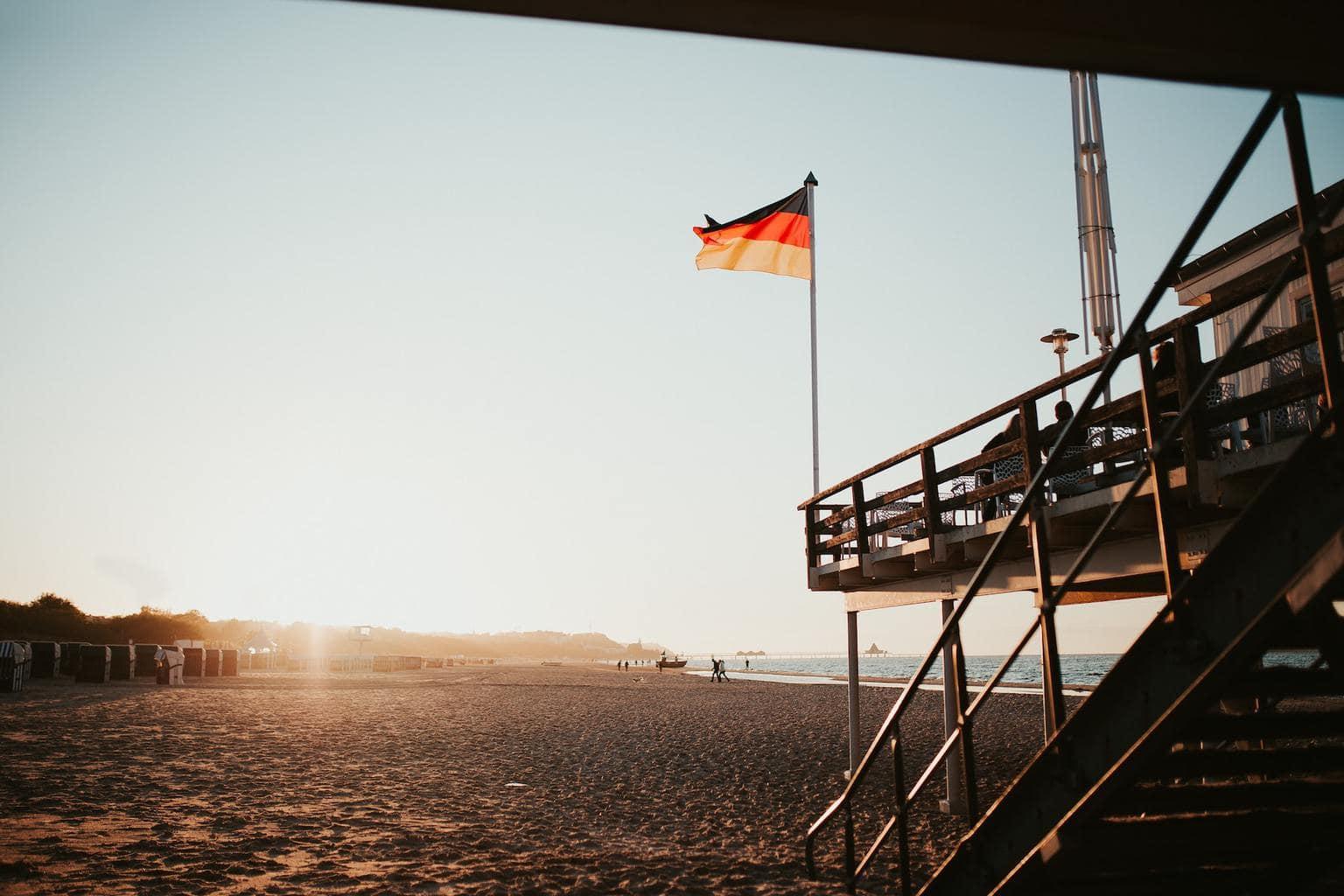 Het strand van Heringsdorf aan de Duitse oostzee