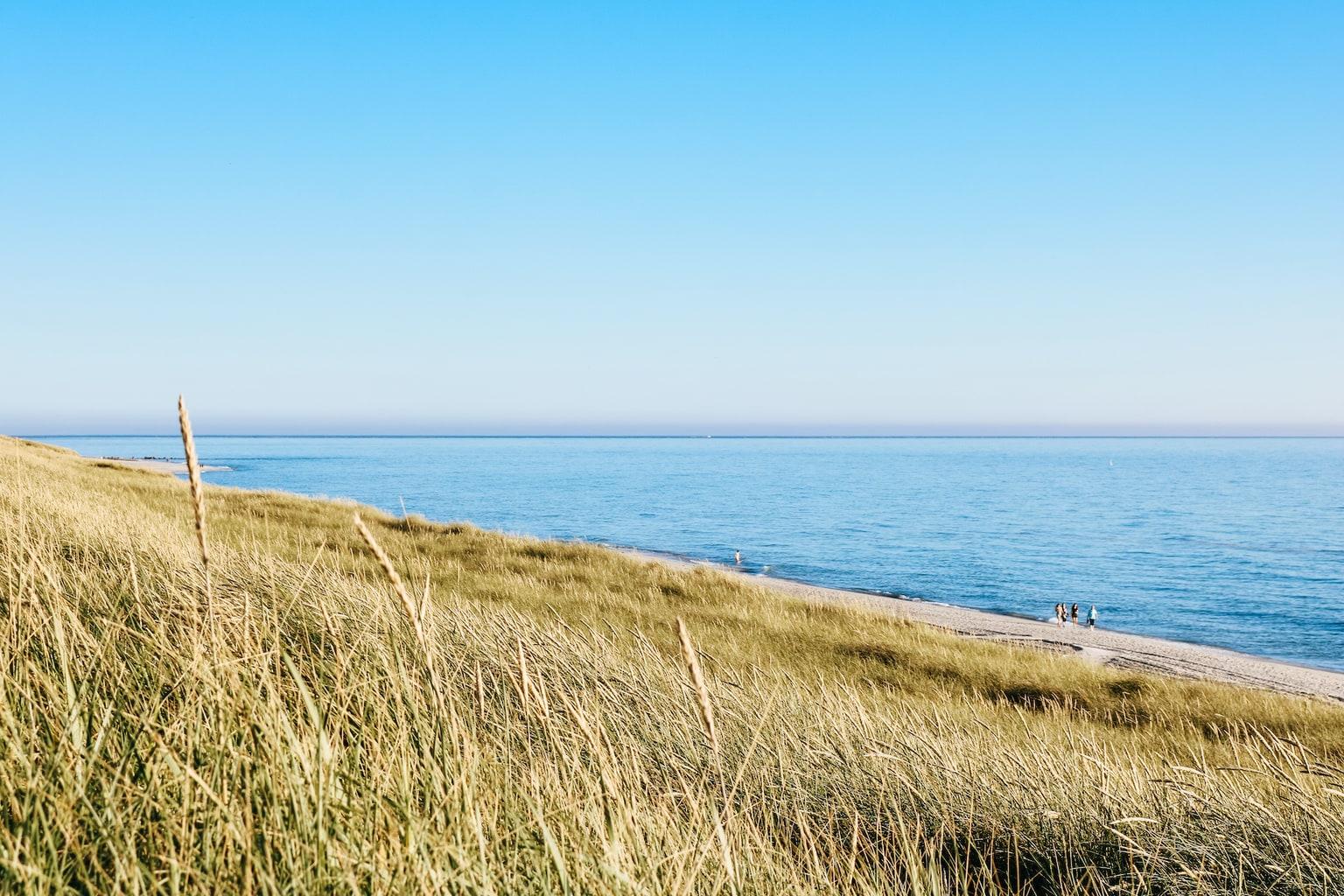 Avondstemming aan het strand van Hörnum op het eiland Sylt