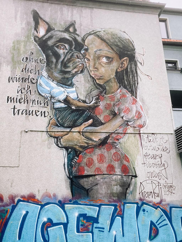 Ohne dich würde ich mich nicht trauen - Street Art in Ehrenfeld
