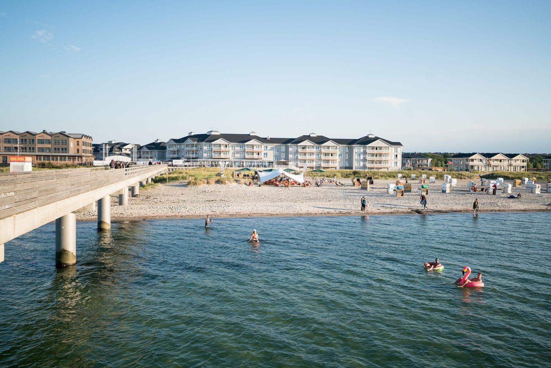 De Pier van Heiligenhafen aan de Oostzee