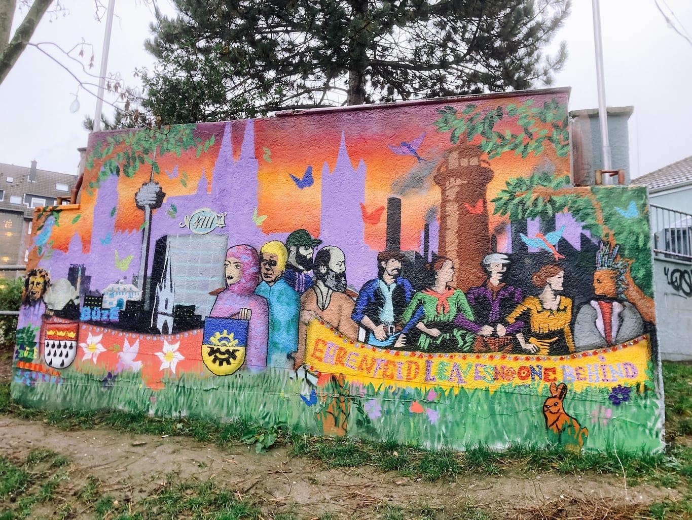 Mural in Keulen Ehrenfeld
