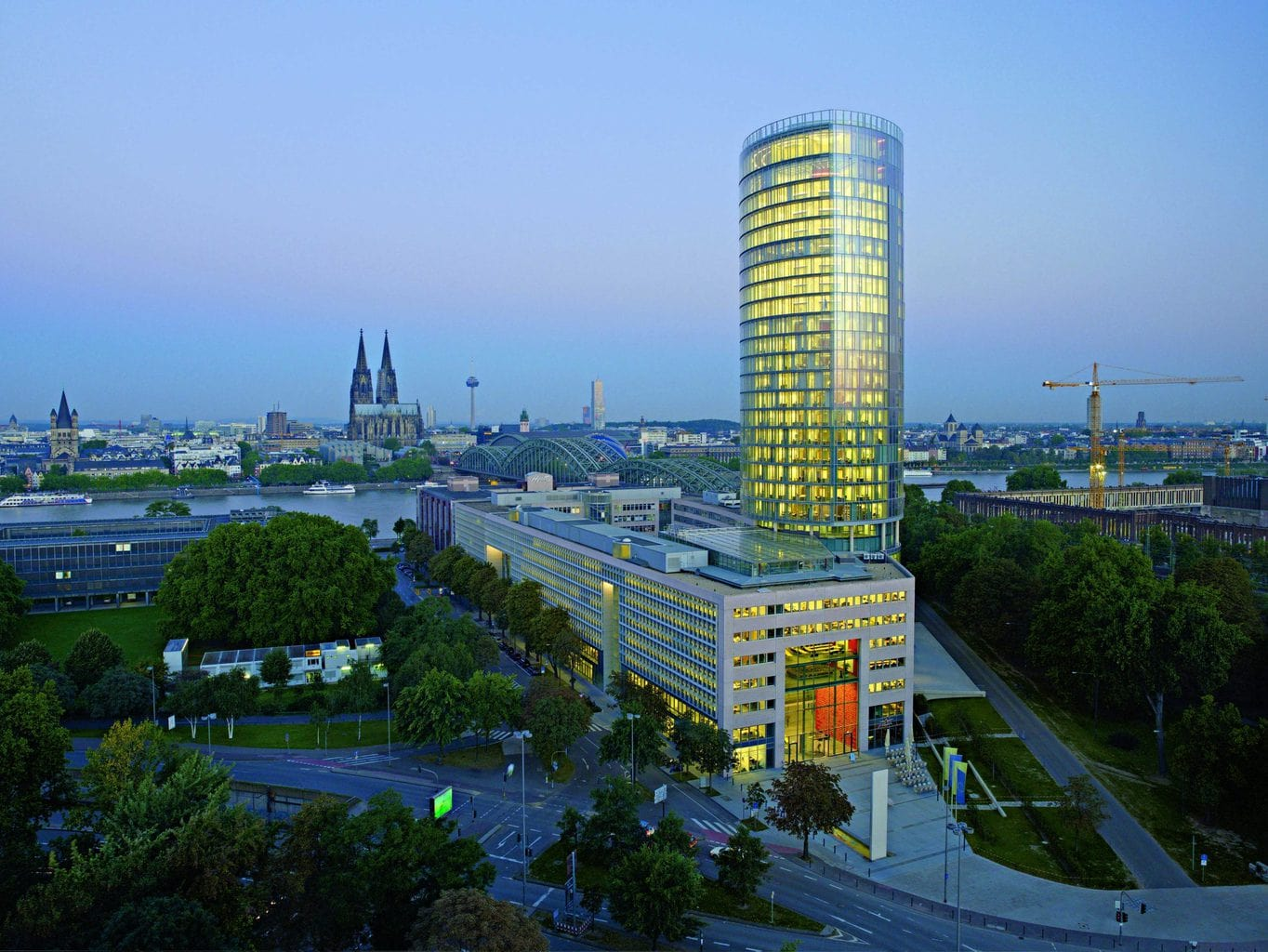 Kölntriangle van Dörte Gaterman in Keulen