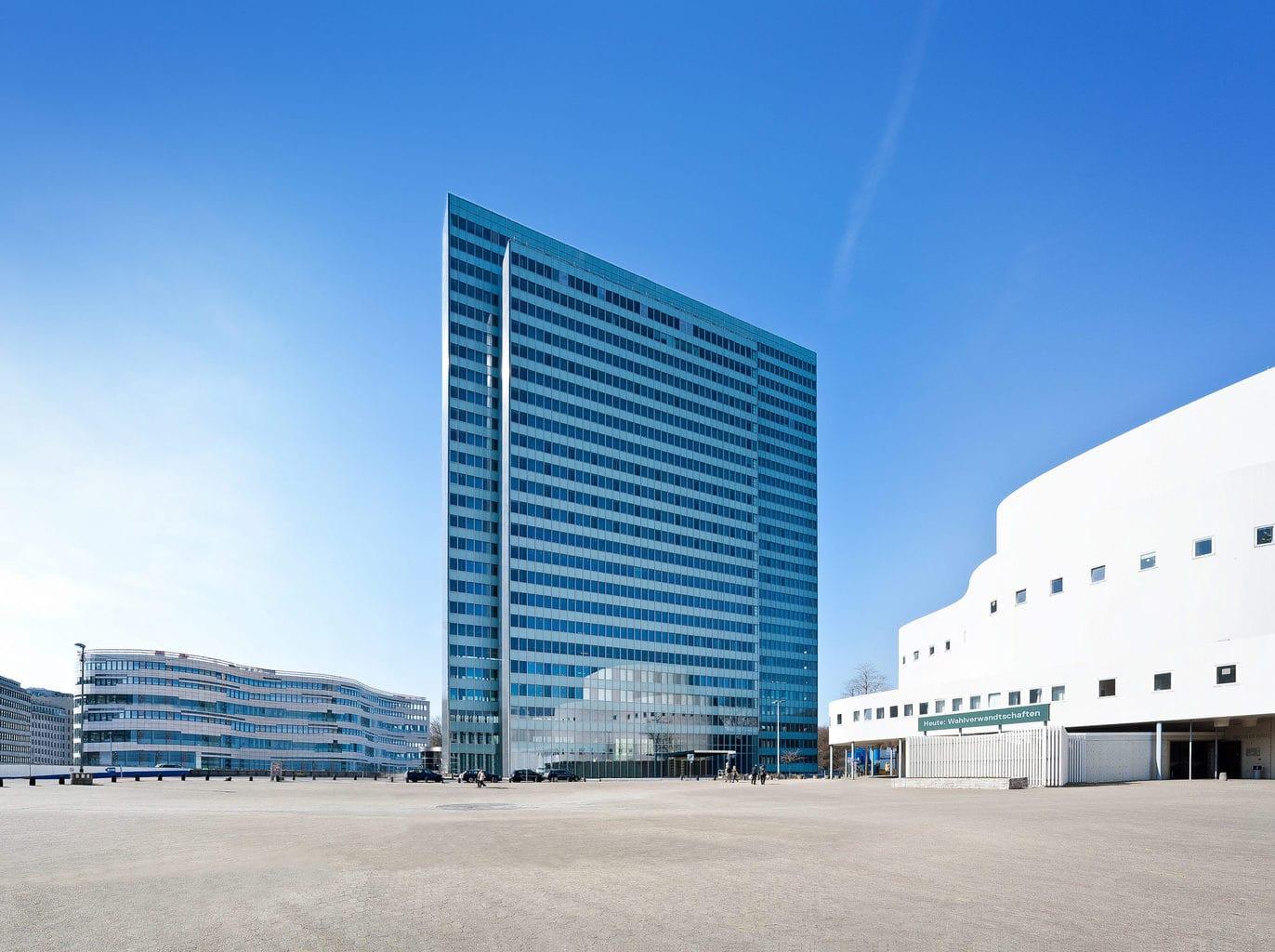 Dreischeibenhaus in Düsseldorf van architect Claudia Roggenkämper