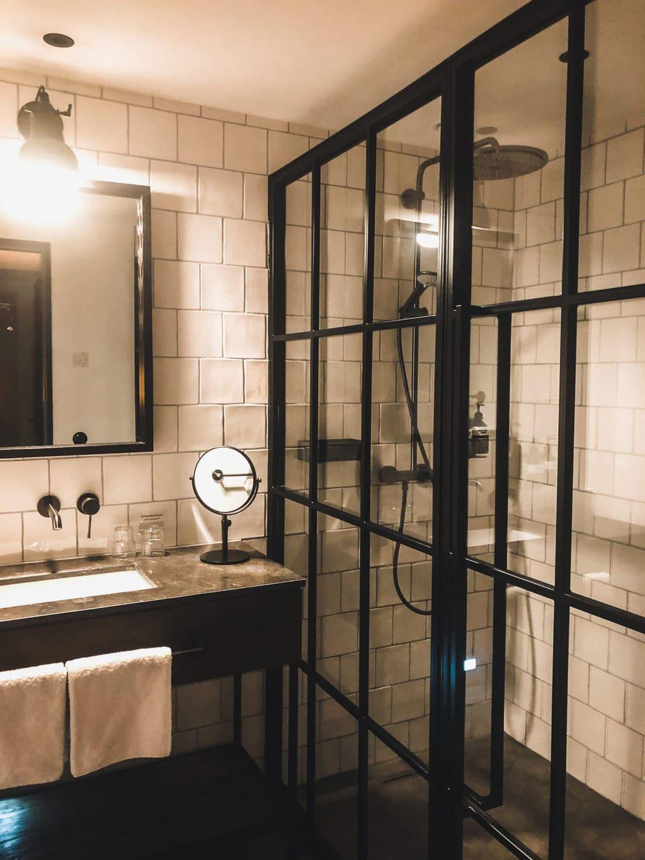 een badkamer om mee te nemen in Hotel Lighthouse in Büsum