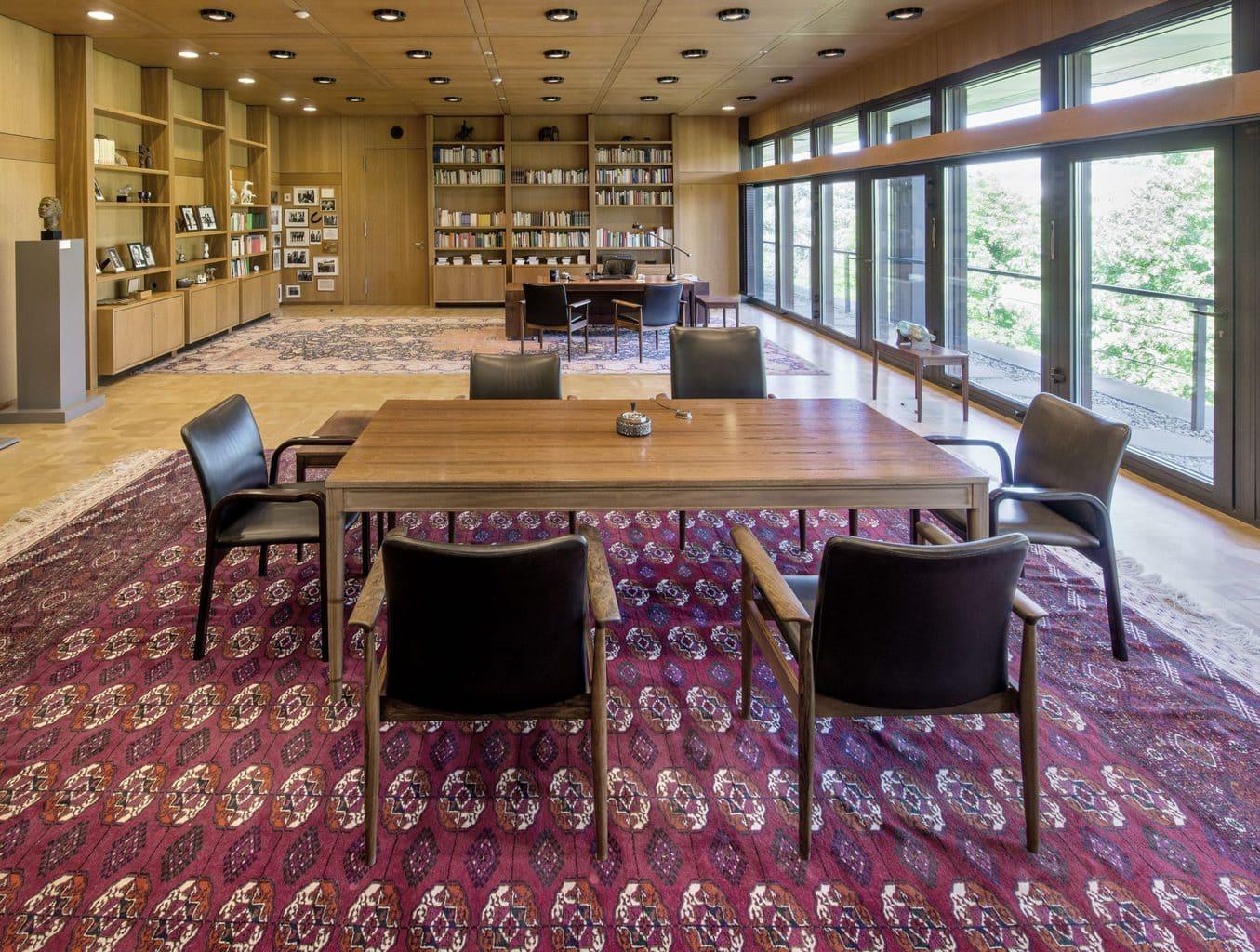 De voormalige werkkamer van de Duitse bondskanselier in Bonn