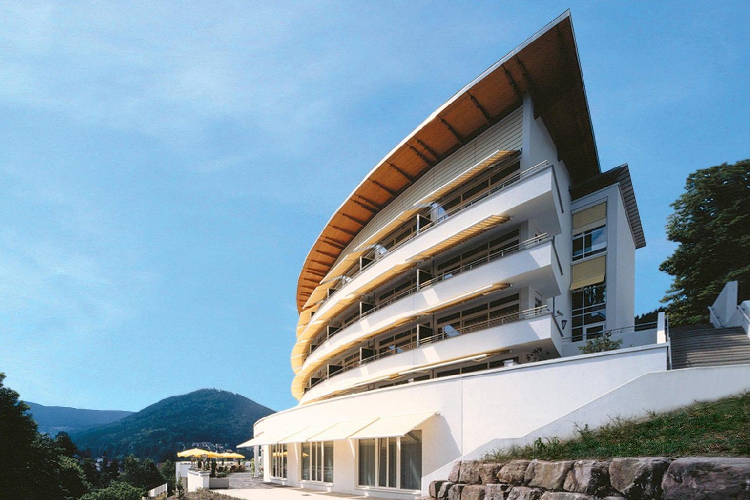 Geavanceerde architektuur is een van de meest opvallende kenmwerken van Hotel Schwarzwald Panorama