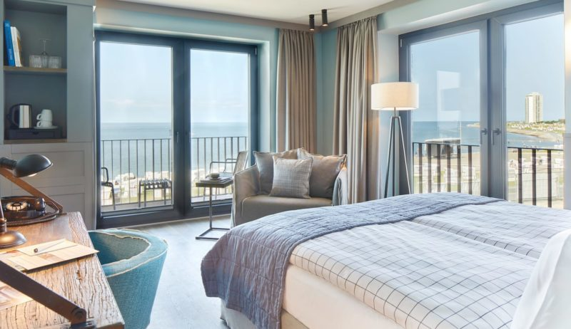 Hotelkamer met zeezicht in Lighthouse Hotel Büsum