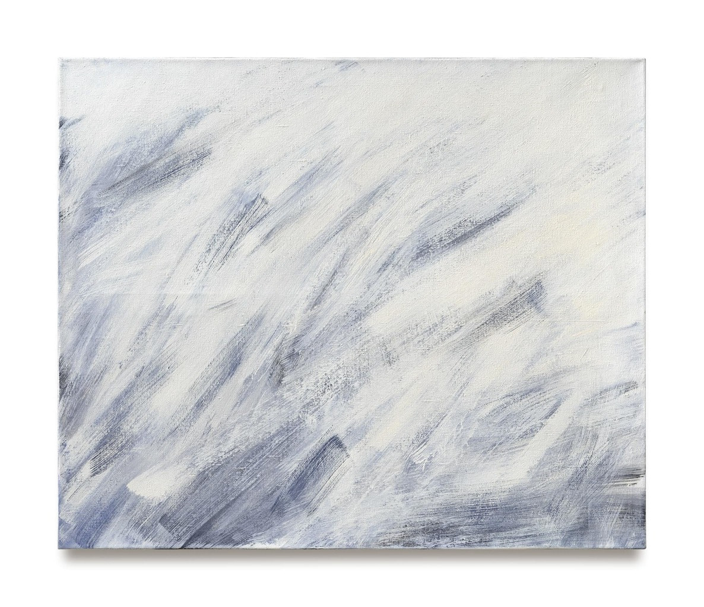 Abstracte schilderij van de Duitse kunstenaar Raimund Girke zonder naam