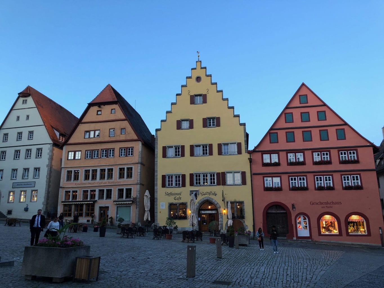 De marktplaats is een van de acht attracties van Rothenburg ob der Tauber