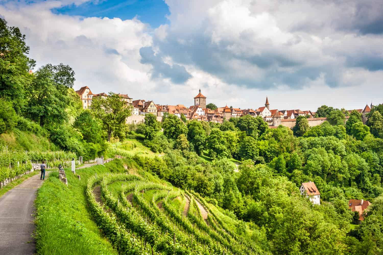 Rothenburg ob der Taube aan de Romantische Straße of derweil romantische Route in Beieren