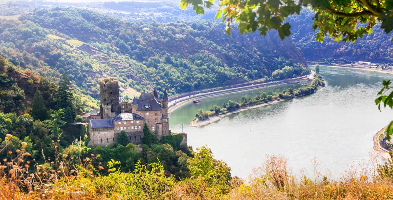 Route van de Rijnromantiek met Loreley en Burg Katz