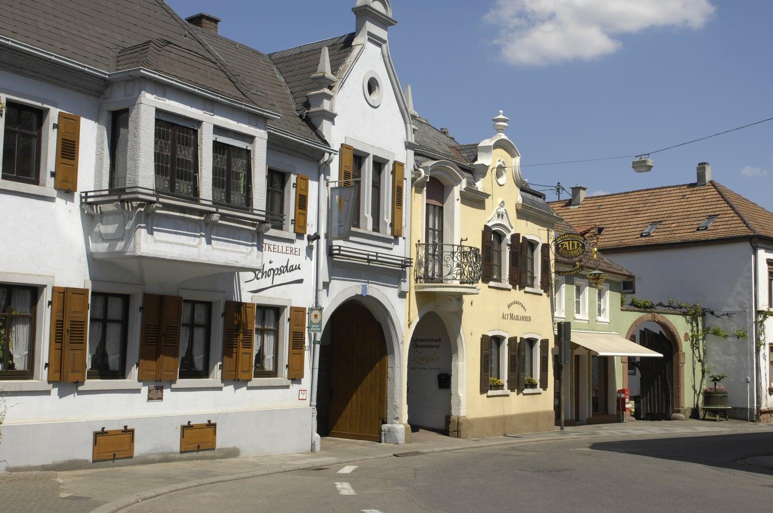 Barokke huizen in Maikammer in de Palts