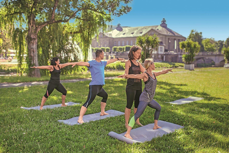 Yoga voor vrouwen en mannen in Hotel Fontana in Bad Kissingen