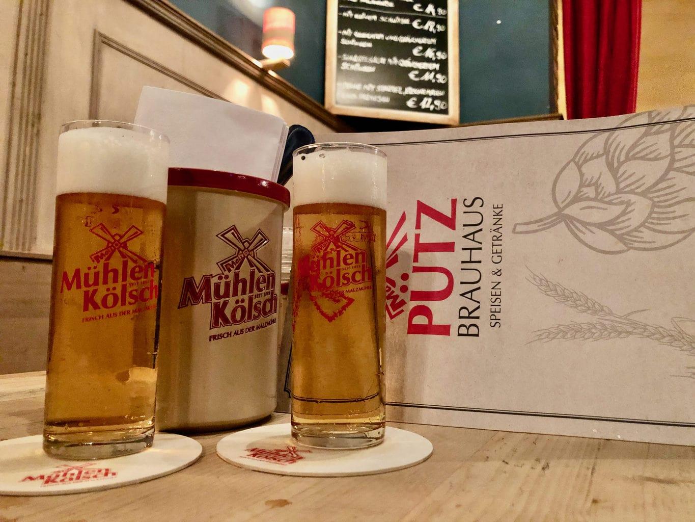 Muehlenkoelsch in Brouwerij Puetz in Keulen