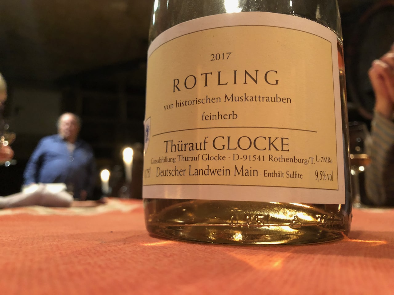 De rotling is een Frankse druif die wijngaarde Thuerauf cultiveert