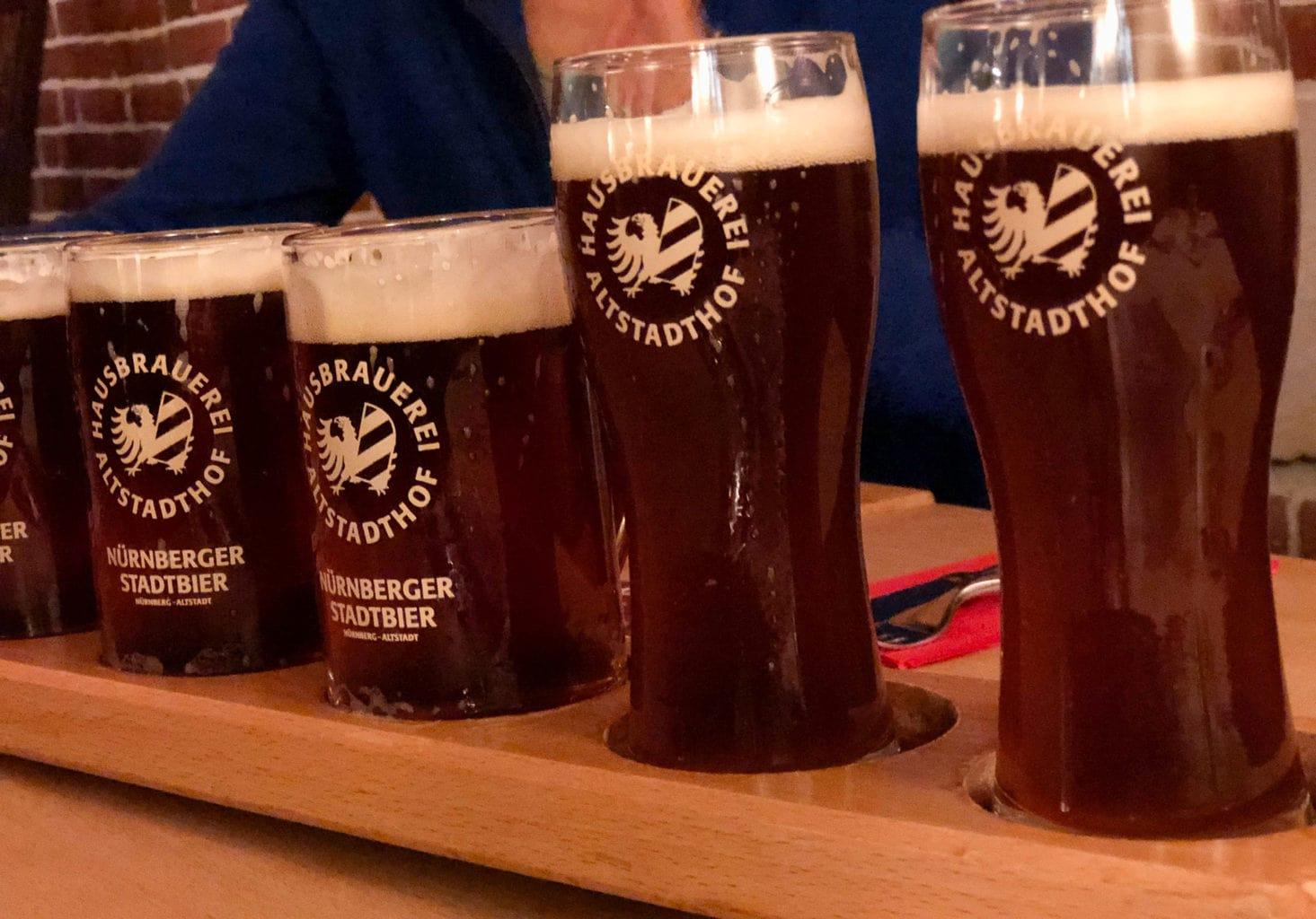 Stadtbrouwerij Altstadthof in Neurenberg heeft heerlijk roodbier op tap