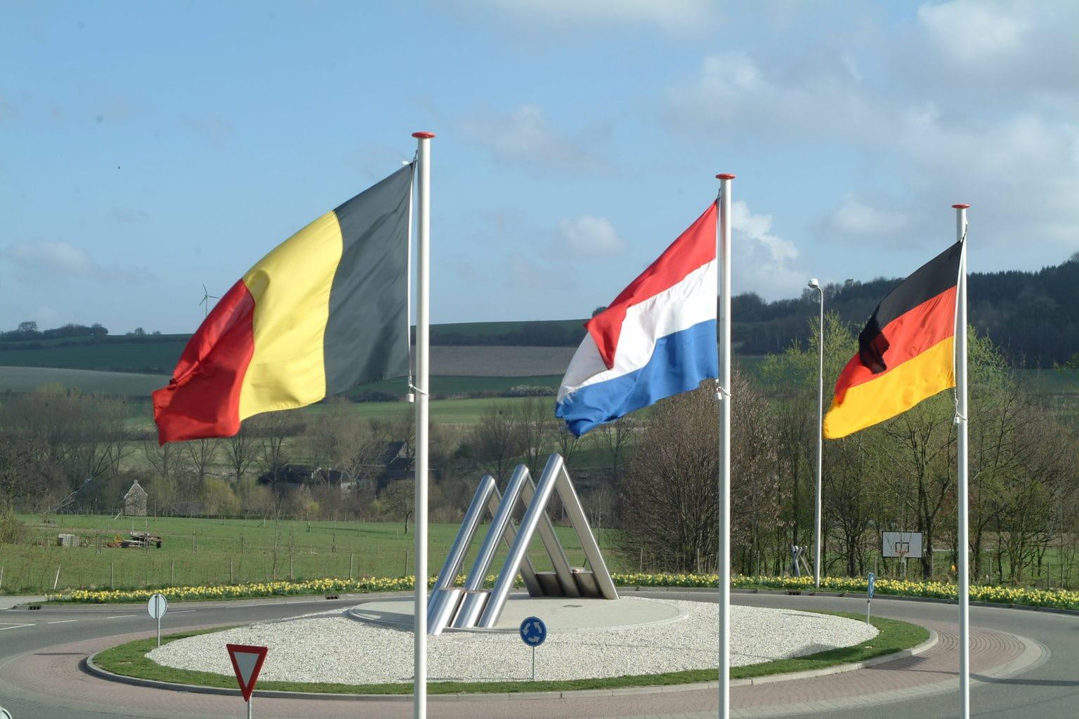 Het drielandenhoek tussen België, Nederland en Duitsland bij Vaals