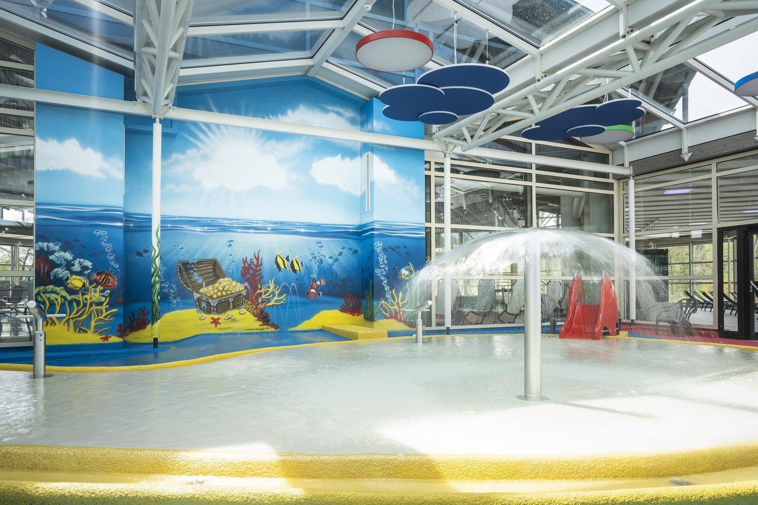 Het kinderbad in de Altmühltherme in Treuchtlingen