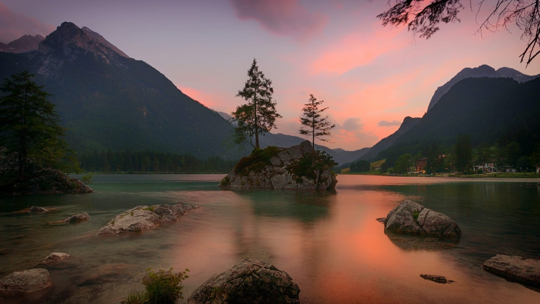 De Koenigssee in Nationaal Park Berchtesgadener Land