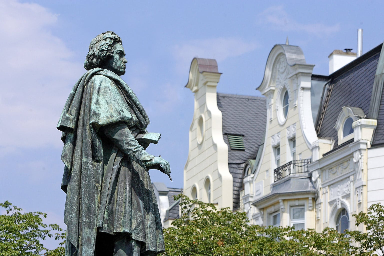 Standbeeld van Beethoven, de meest beroemde zoon van de stad Bonn