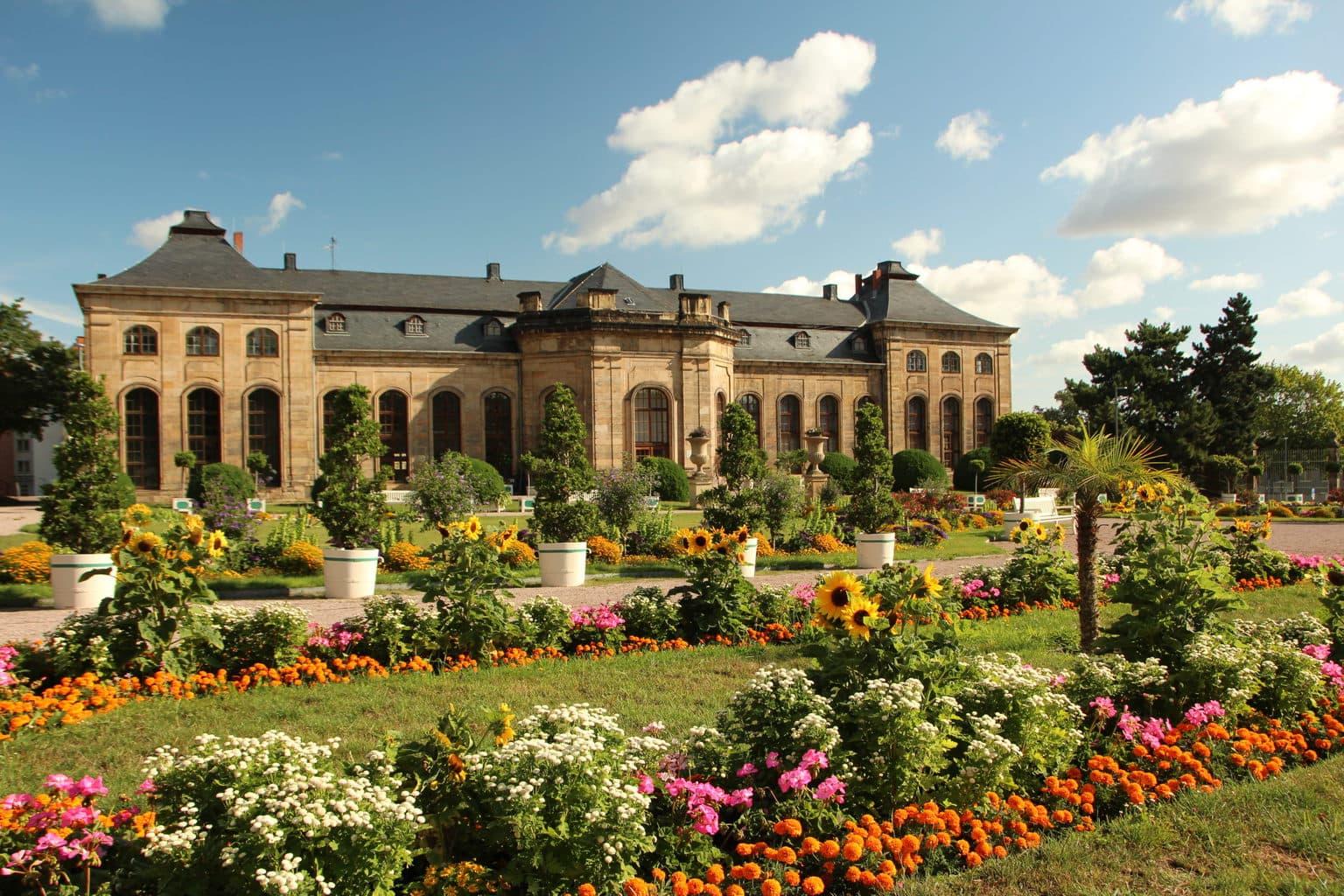 Oranjerie van Gotha in Thueringen maakt deel uit van de Bundesgartenschau 2021