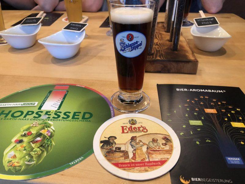 Een donker biertje van het merk Schlappeseppel is een bier uit Weinfranken